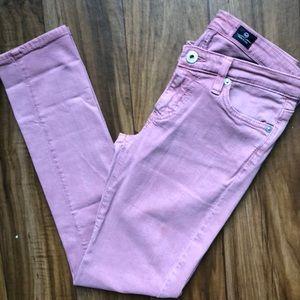AG Pink Stretch Skinny Jeans
